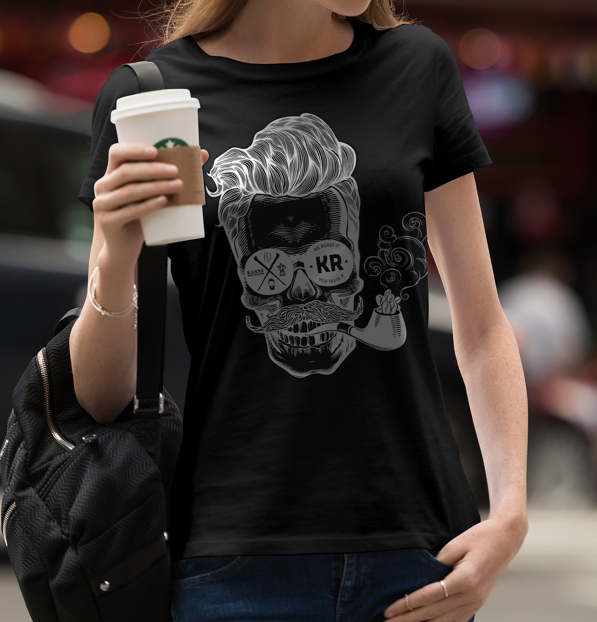 "T-Shirt ""Coffee Skull"""